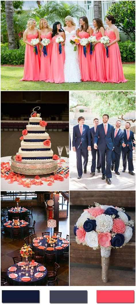 navy blue and coral wedding nobleness and eternity stunning navy blue wedding color ideas