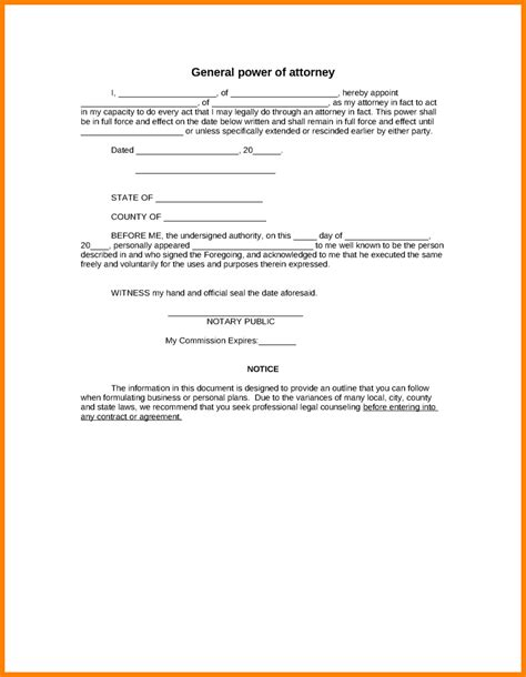 12 power of attorney template free ledger paper