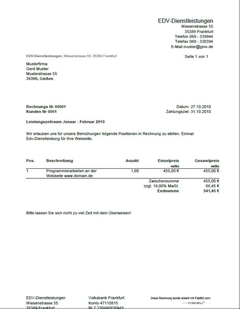 Offizielles Angebot Muster 7 Restaurant Rechnung Vorlage Lesson Templated