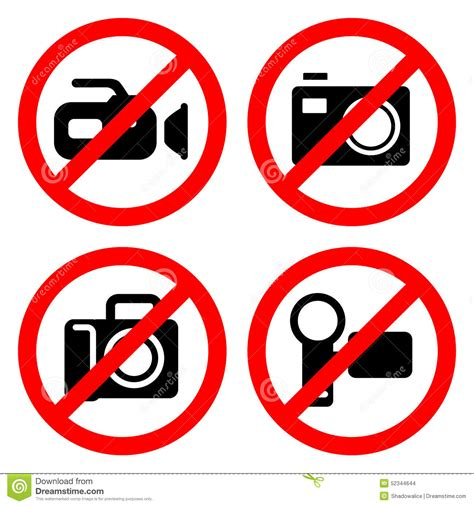 cameri no no sign great for any use vector eps10 stock
