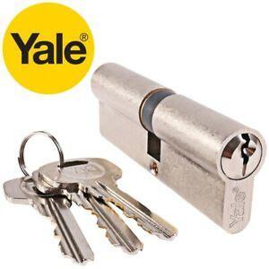 yale nickel euro cylinder barrel door lock  pin anti pick