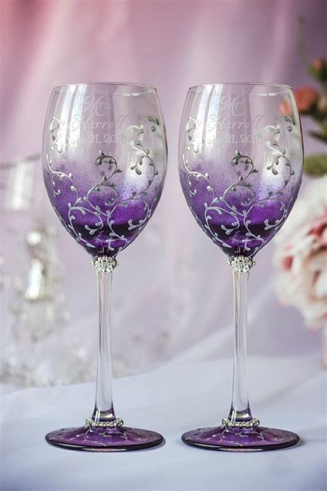 25  best ideas about Purple Wine Glasses on Pinterest