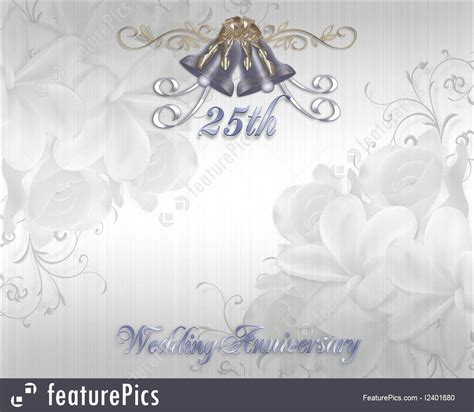 Wedding Background Silver by 25th Wedding Anniversary Invitation Silver Bells Stock