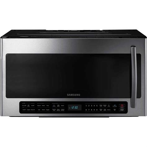 samsung me21h706mqs 2 1 cu ft the range microwave w multi sensor cooking stainless steel