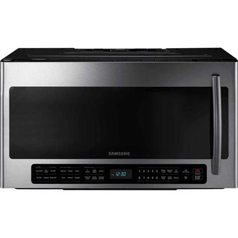 Samsung The Range Microwave Samsung Me21h706mqs 2 1 Cu Ft The Range Microwave W Multi Sensor Cooking Stainless Steel