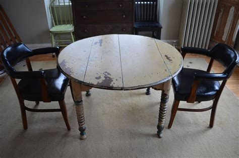 Primitive Dining Room Tables Round Farm Table Primitive Antique With Original Paint At