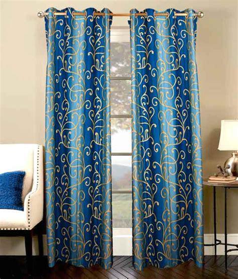 7 foot curtains shandar rose blue door curtains set of 2 7 feet blue
