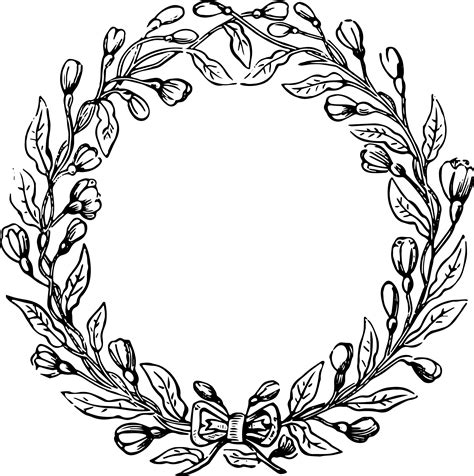 fall vintage wreath clipart clip art library