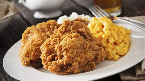 Mac Chicken fried chicken and macaroni and cheese