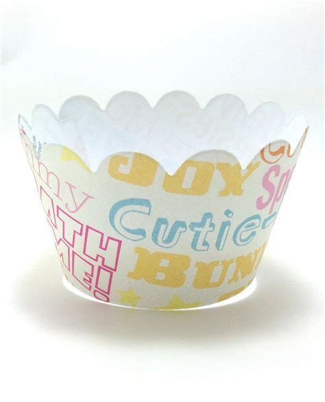 Baby Shower Cupcake Wrappers by Pacifier Baby Shower Cupcake Wrappers 24ct Personalized