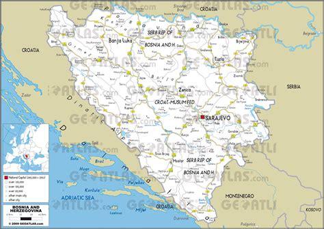 map of bosnia geoatlas countries bosnia and herzegovina map city