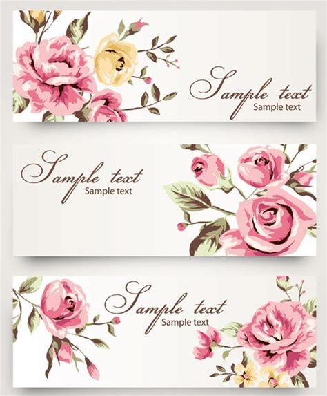 watercolor pattern with purple flowers vector free download free vintage vector banner with watercolor flowers titanui