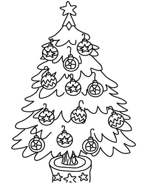imagenes en blanco de navidad colorea tus dibujos 193 rbol navide 241 o con esferas navide 241 as