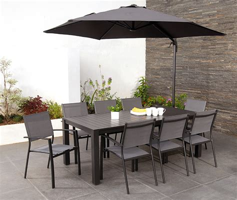 8 seater garden dining sets with parasol