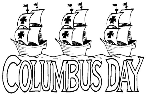columbus day coloring page the nina the pinta and the
