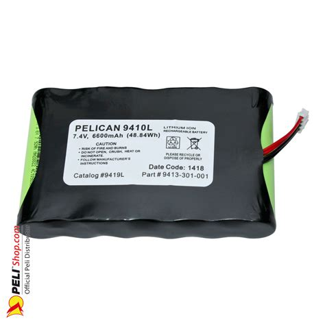 battery pack for l peli 9419l lithium ion battery pack for 9410l pelishop