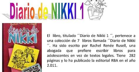 diario de nikki 8427211260 caj 211 n de primaria diario de nikki 1