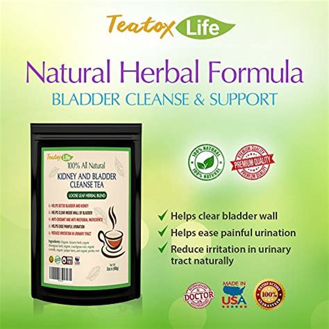 Best Kidney Detox Tea by Premium Kidney Cleanse Tea For Organic Bladder Support