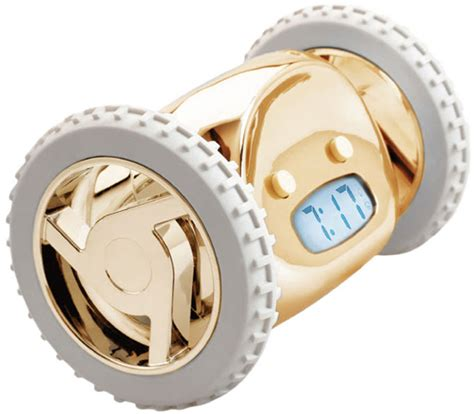 Clocky Alarm Clock Runs And Hides When You Dont Up by Clocky Robot Alarm Clock Gold