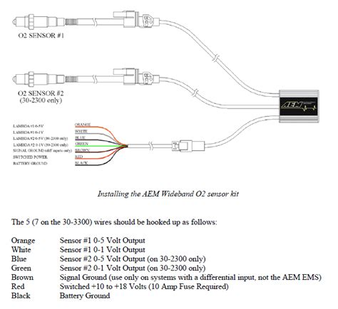 aem wideband o2 sensor wiring diagram wiring diagrams