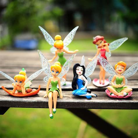 6pcs tinker bell fairies princess figures cake topper secret wing gift ebay