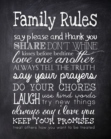 printable quotes about grandchildren family rules free printable chalkboard printable
