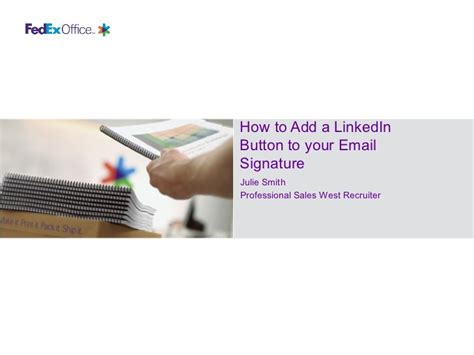 Add Mba To Linkedin by Adding Linkedin To Your Email Signature