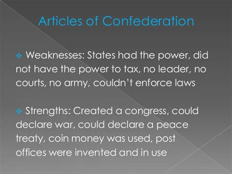 what were the strengths and weaknesses of the ottoman empire the articles of confederation