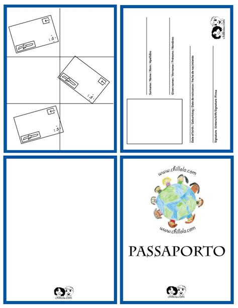 Italian Passport Template pin by loredana on italian for children
