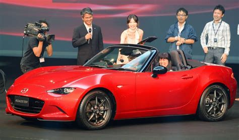 mazda motor corp mazda unveils miata as top selling two seat roadster