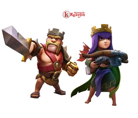 clash of clans king and render by kozejin on deviantart