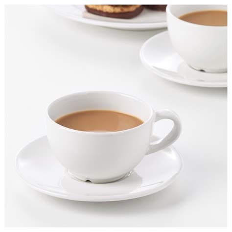VARDAGEN Coffee cup and saucer Off white 14 cl   IKEA