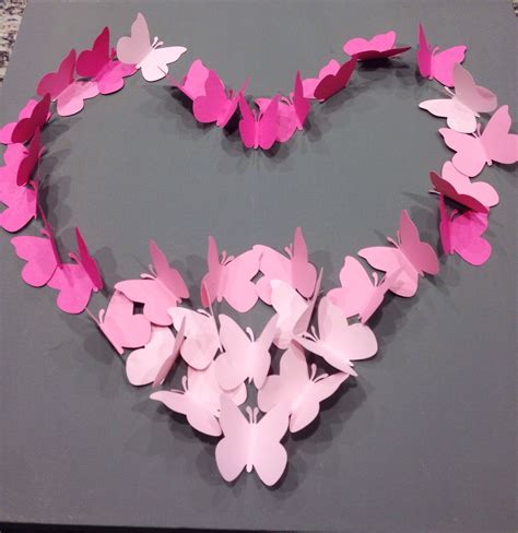 Butterfly Walldecor 40rb diy ombre butterfly wall