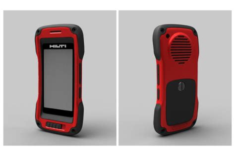 concept top smartphones: hilti rugged phone rendered by