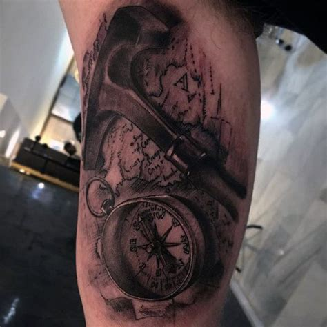 tattoo compass 3d 75 travel tattoos for men adventure design ideas