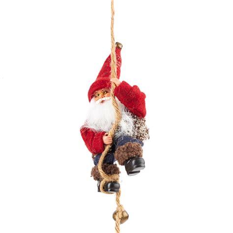 climbing santa on rope wall art christmas and winter
