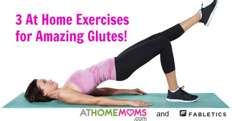 at home exercises for amazing glutes at home