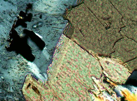 calcite cement in thin section igneous minerals