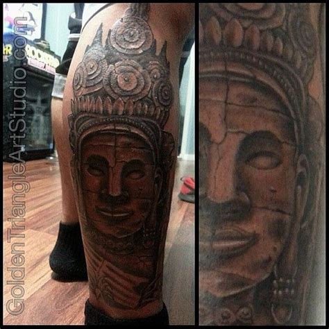 cambodian tattoos cambodian bayon temple golden triangle studio