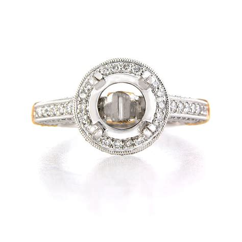 platinum and 18k gold antique style