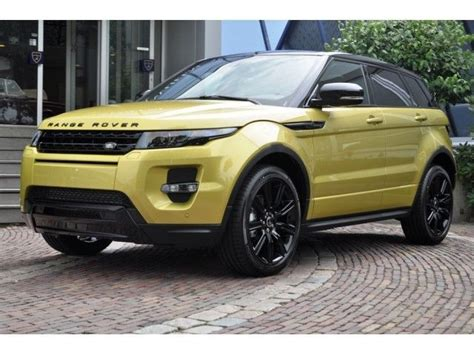 land rover yellow land rover evoque sicilian yellow autos cultura mix