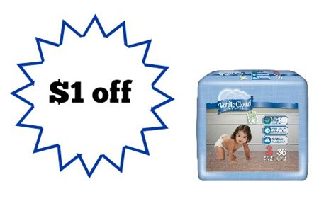 white cloud diaper printable coupons white cloud diapers coupon 5 97 a pack southern savers