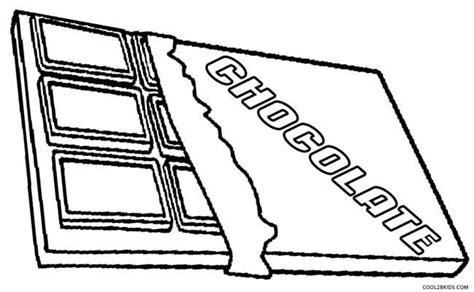 Chocolate Coloring Page free coloring pages of chocolate bar