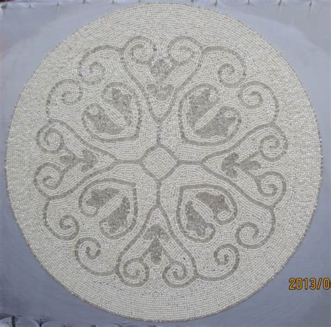 white beaded placemats handmade beaded table mats placemat white paper