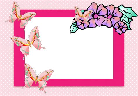 butterfly border template butterfly border clipart