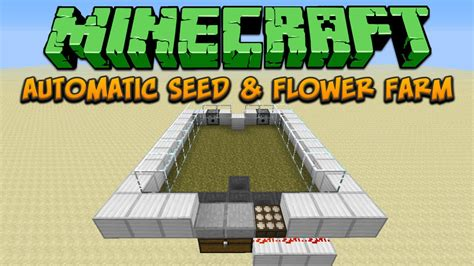 Minecraft Auto Planter by Automatic Seed And Flowers Farm Minecraft Tutorial