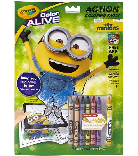 crayola color alive coloring pages minions jo
