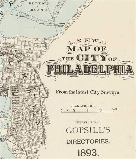 antique map of philadelphia map of philadelphia united states 1893 maps and