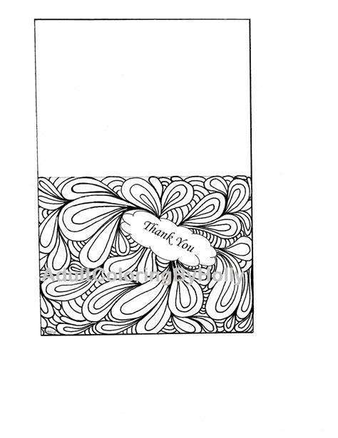 Coloring Page Thank You Card by Thank You Card Drawing At Getdrawings Free For