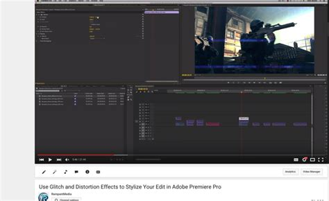 tutorial adobe premiere effects tutorial use glitch and distortion effects to stylize